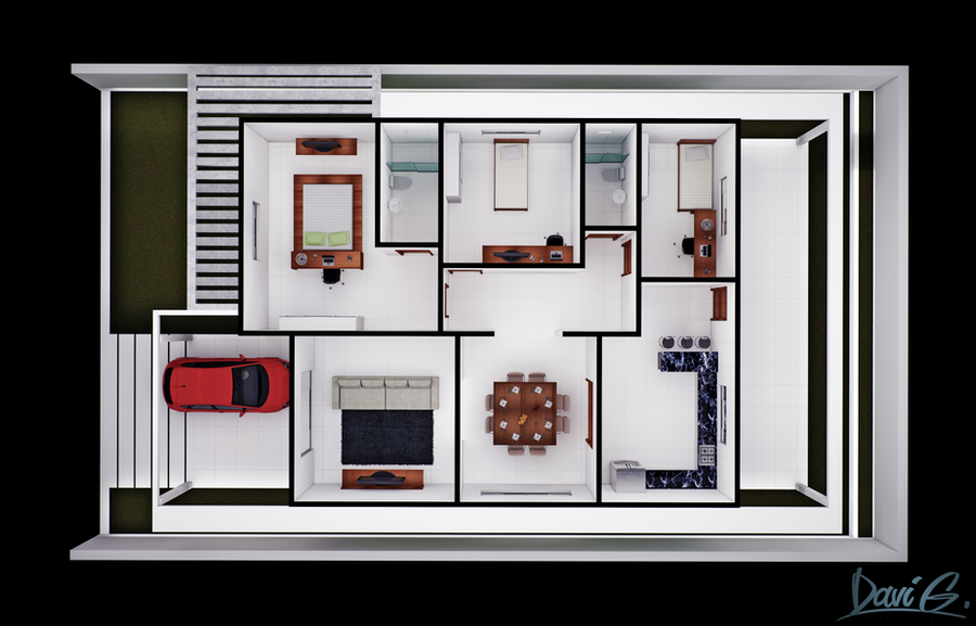 Floor Plan Humanized by davibaixo