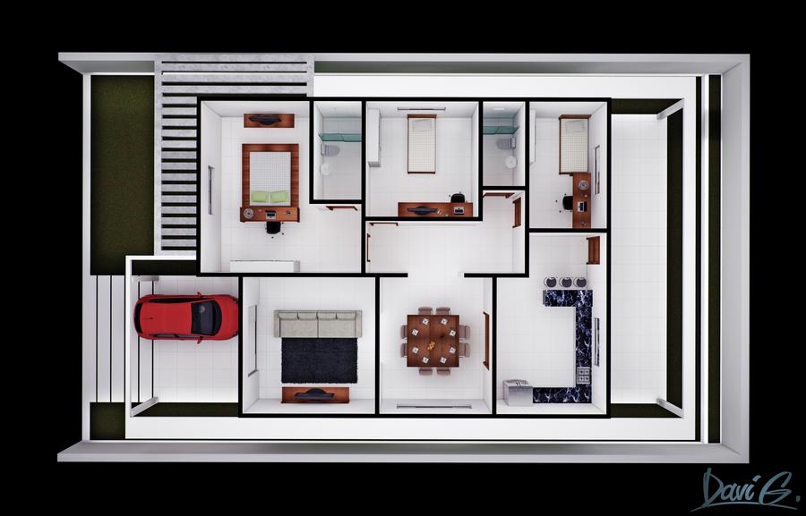 Floor Plan Humanized by davibaixo