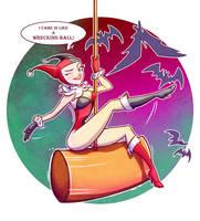 Harley Quinn Wrecking Ball by bonjourdepro