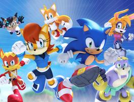 Original - Sonic The Hedgehog 257 Cover by Elesis-Knight