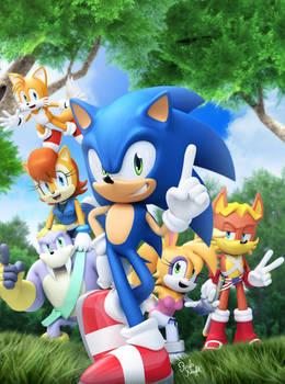 Original - Sonic Super Digest 6 Cover