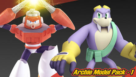 Archie Model Pack 1 - Free Download by Elesis-Knight