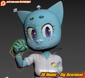 Nicole Watterson - 3D Model + Rig Download by Elesis-Knight