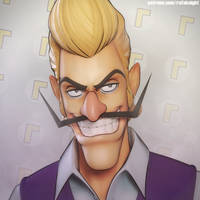Handsome Waluigi