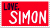 love, simon stamp by hoqwarts
