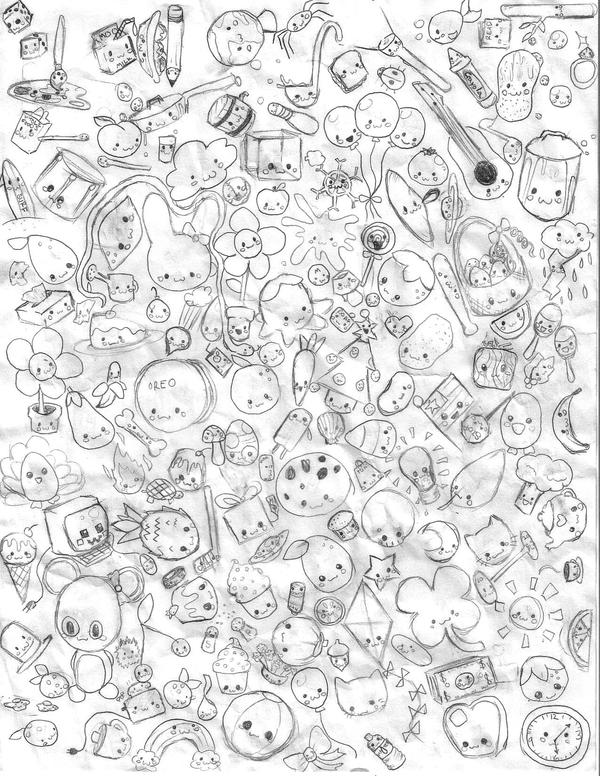 A bunch of cute random things by nami615 on deviantart for Random cute drawings