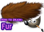 How to draw fur using GIMP ( with a mouse ) by Trojanarchist