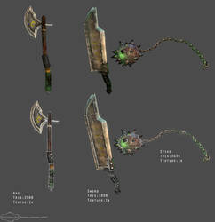 Weapons by Andacalagon