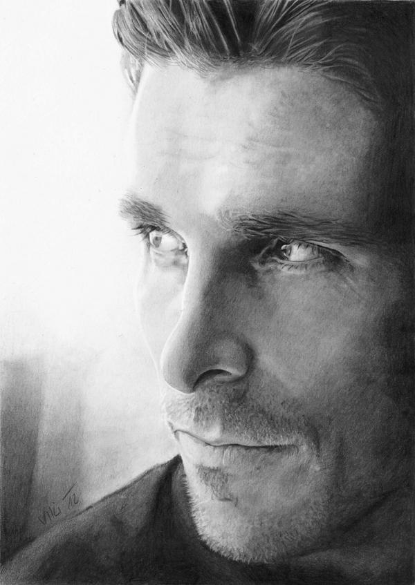 Christian Bale by Ileina