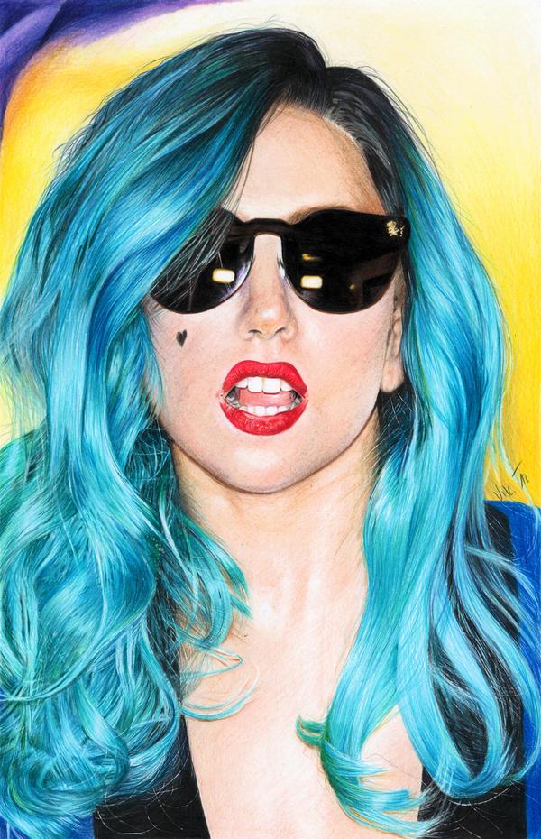 Lady Gaga by Ileina