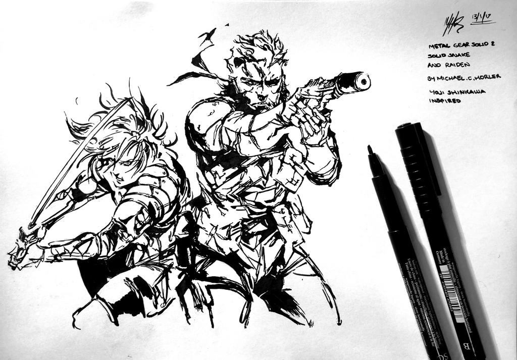 Mgs2 Sons Of Liberty Solid Snake And Raiden By Mchorler67