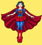 Snow White as Superman
