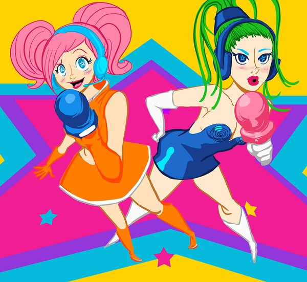 Space Channel 5!!! Ulala and Puddin' by ScrapCity