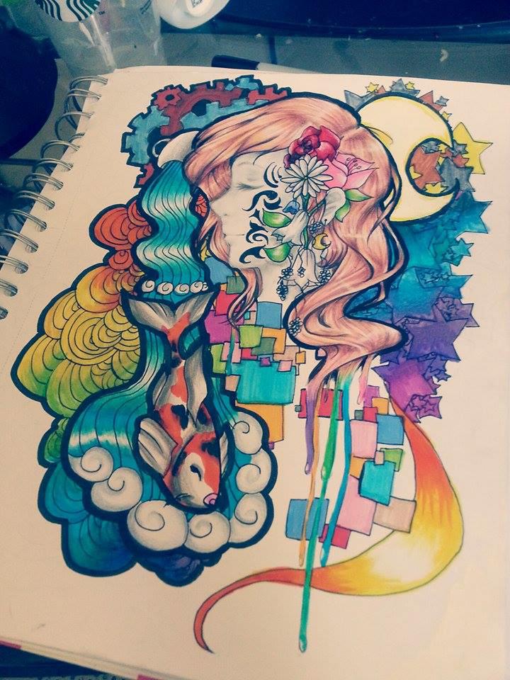 The Mermaid of Geometric Colors by MizuAndAzalashi on ...