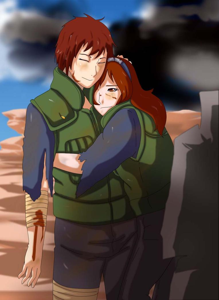 Kaito and Fuka in War by CupcakeYukiChan