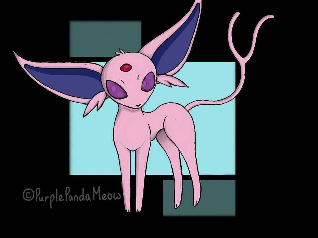 Espeon (Favorite Pokemon) by PurplePandaMeow