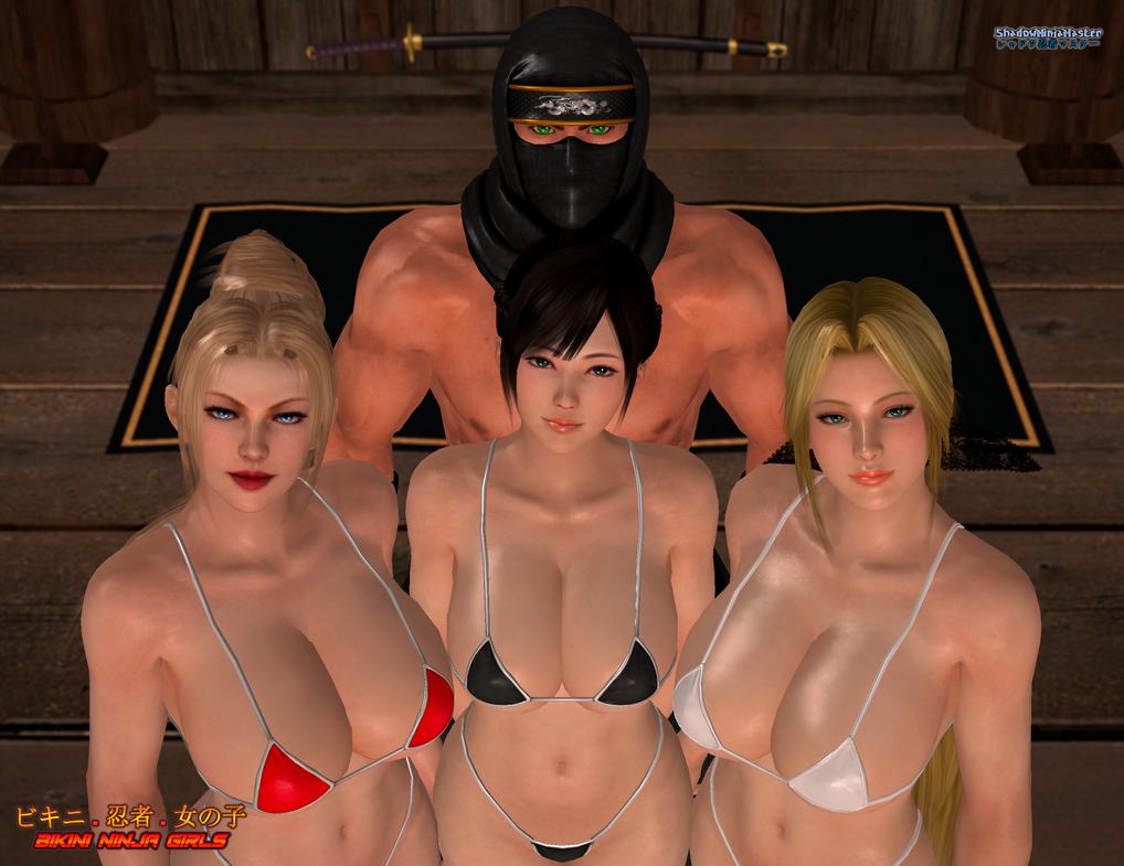 Bikini Ninja Girls: Team Shadow Group Photo by ShadowNinjaMaster