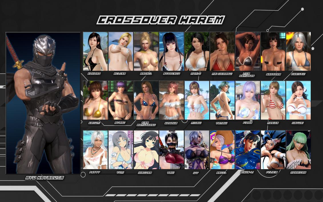 Ryu Hayabusa Crossover Harem