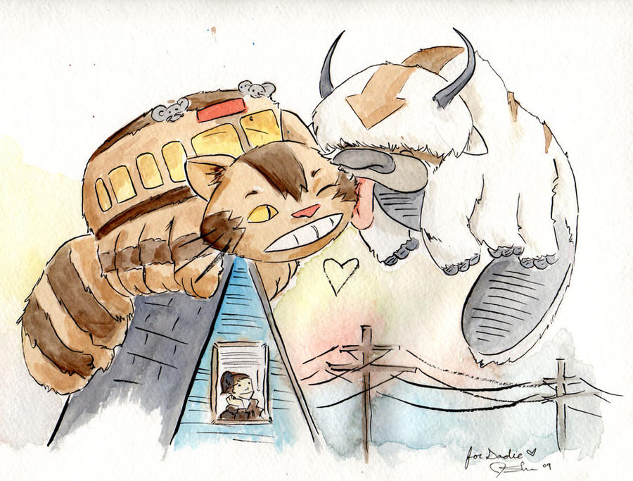appa loves catbus by jsheaisaninja