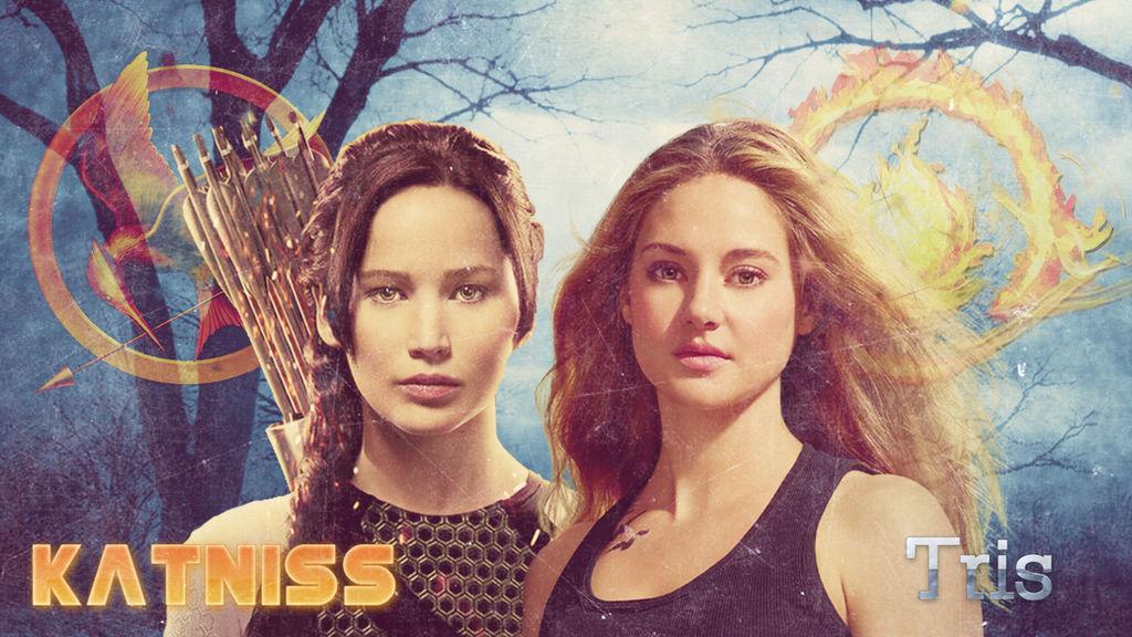 Katniss and Tris | Wallpaper