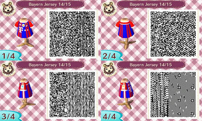 AC New Leaf - Design #10 'Bayern Munich Jersey #1'