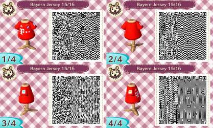 AC New Leaf - Design #12 'Bayern Munich Jersey #3'