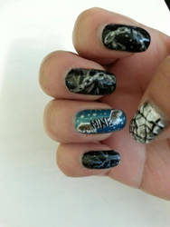 Jaejoong Mine Nail Art (right hand) by yuuko777
