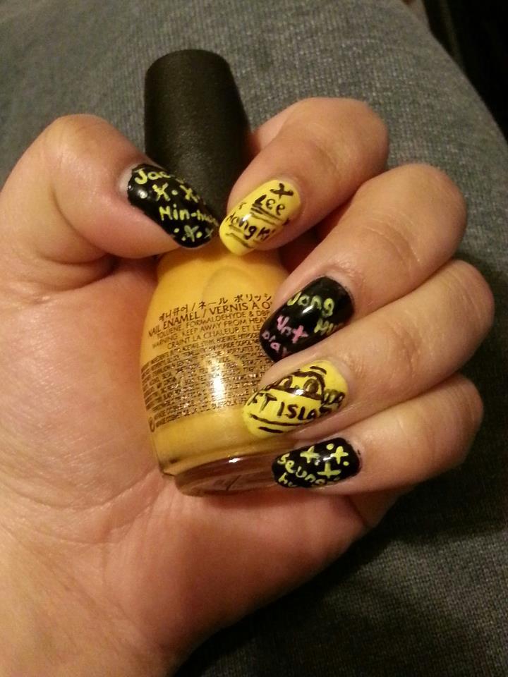 FT ISLAND Nail Art (Left Hand) by yuuko777 on DeviantArt