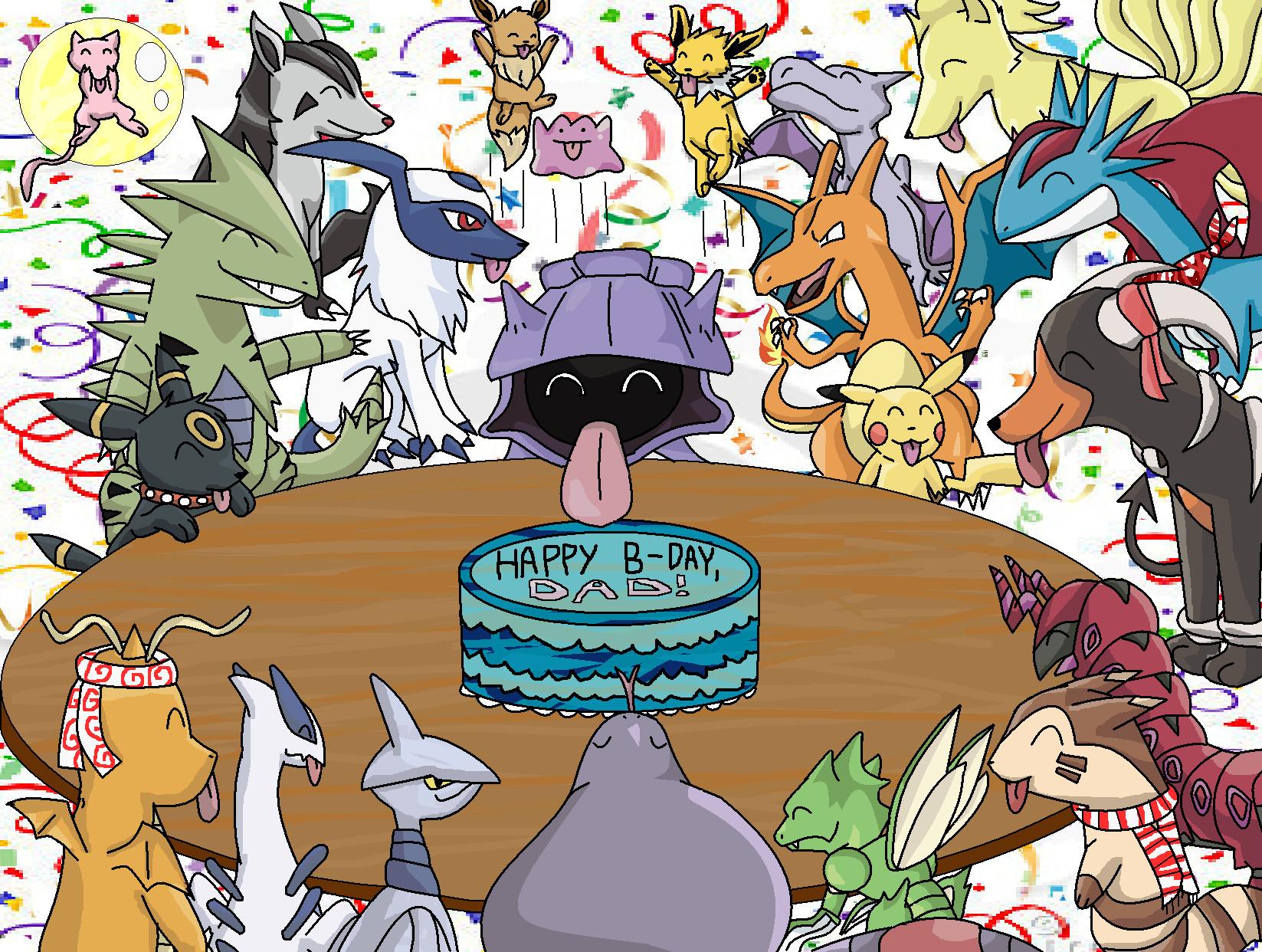 Pokemon Birthday Party by SalamencePaint on DeviantArt