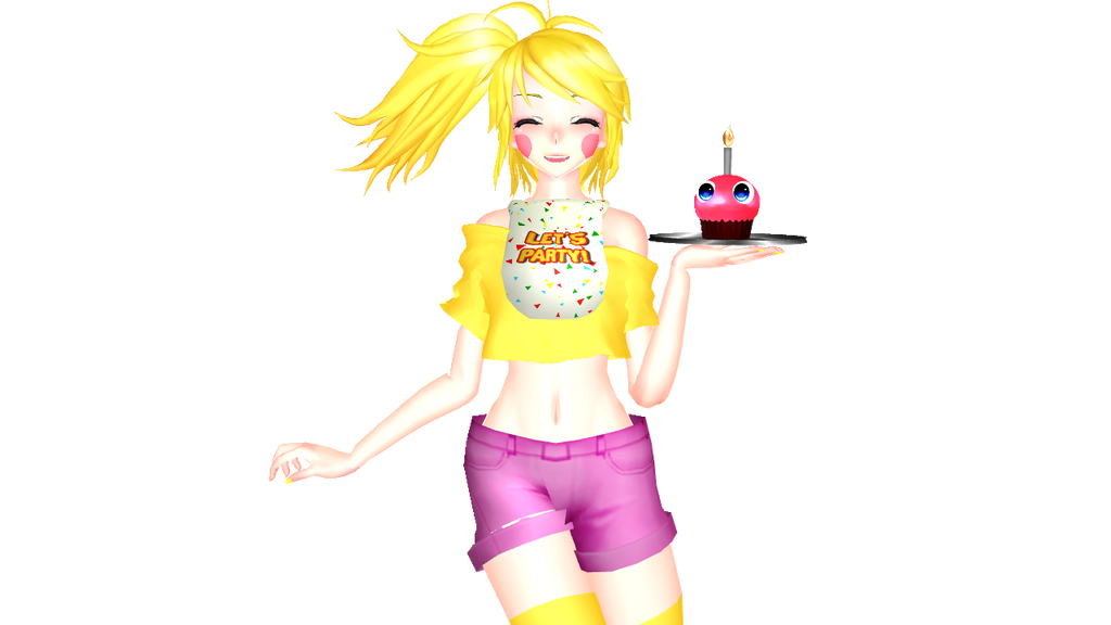 [MMD X FNAF] Toy Chica By StrongLady14 On DeviantArt