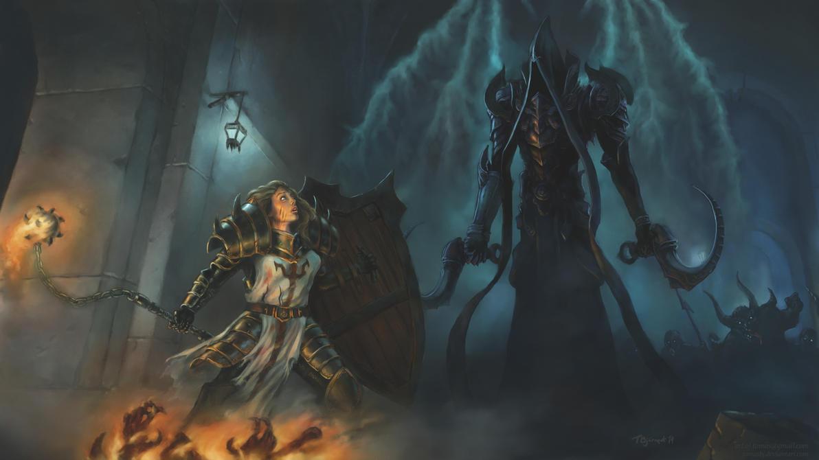 Diablo 3 Ros Wallpaper: Diablo 3 ROS Contest: The Encounter By TomasBj On DeviantArt