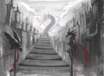 bridge to dragon by Sparoapple