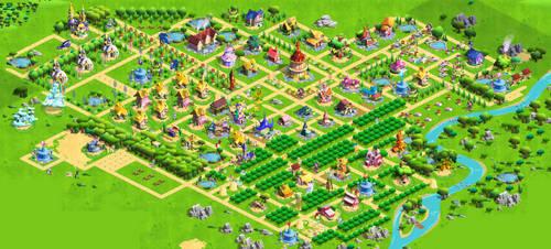 MLP Gameloft Game - Full Ponyville Screenshot by PenStrokePony