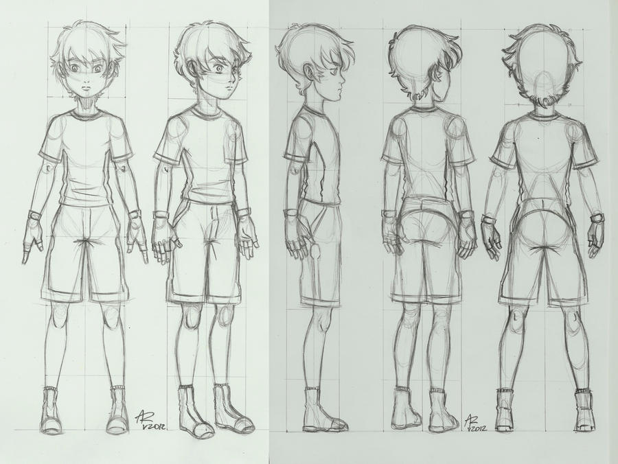 Basic Anime Character Design : Character turnaround by aleru on deviantart