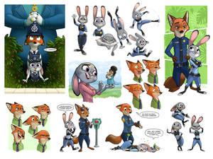 Zootopia Sketches