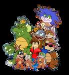 Me, the Koopa Kids and King Koopa (For OrtizAngel)