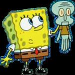 SpongeBob Holding Mini Squidward