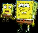 SpongeBob Holding His Mini Self