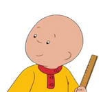 Caillou With Ruler PNG