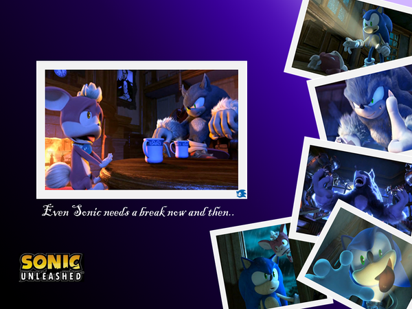 My Sonic Unleashed Wallpaper By MysticWolfsguy