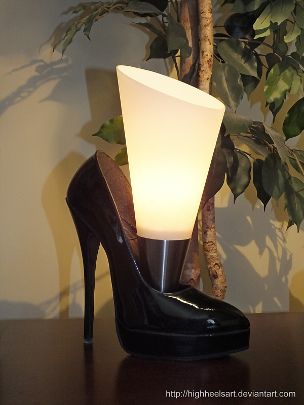 High Heel Night Table Lamp by HighHeelsArt