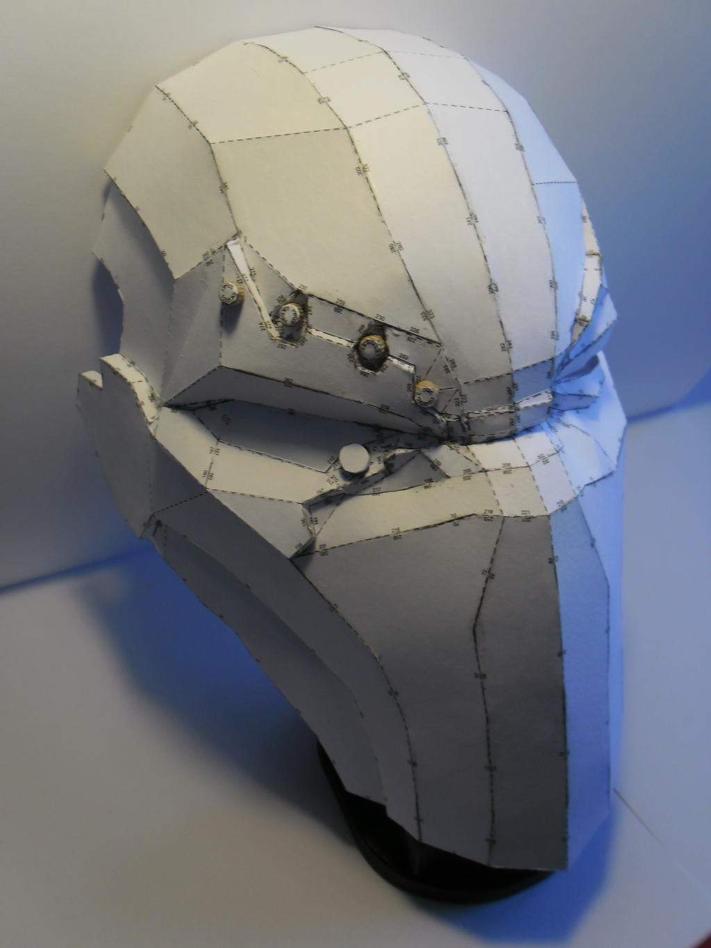 Deathstroke mask 02 wip by aefen53 on deviantart for Deathstroke armor template