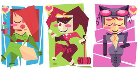 ::Gotham Girls Postcard set::