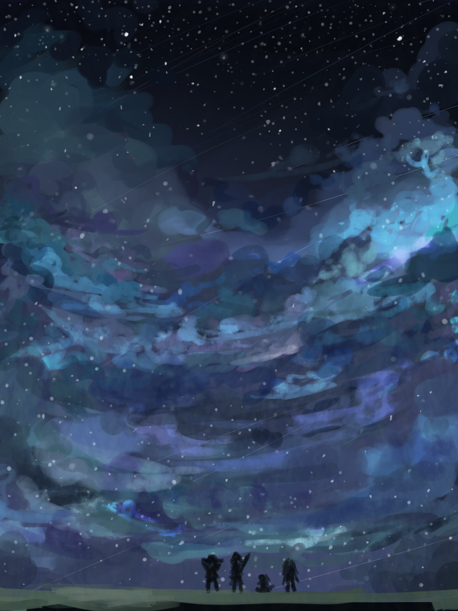 Night Sky by Potato-K
