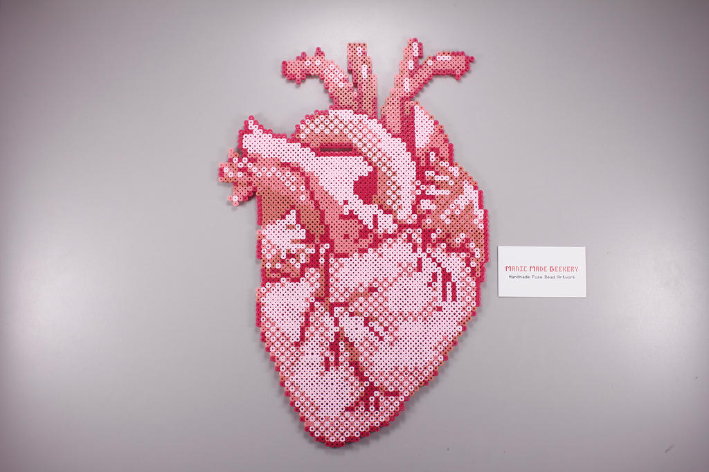 Fuse Bead Anatomical Heart By Manicmadegeekery On Deviantart