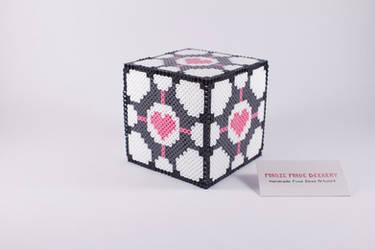 Fuse Bead 3D Companion Cube by ManicMadeGeekery