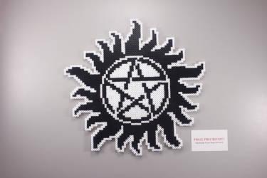 Fuse Bead Anti-Possession Symbol by ManicMadeGeekery