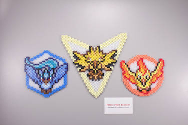 Fuse Bead Pokemon Go Teams - Mystic Instinct Valor by ManicMadeGeekery