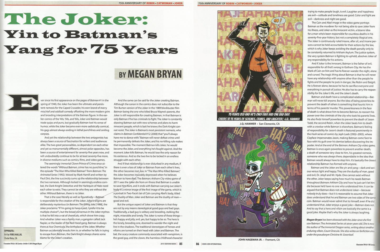 The Joker: Yin to Batman's Yang for 75 Years