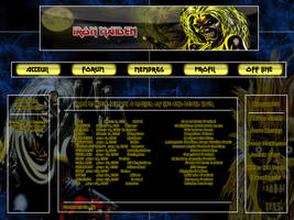 Iron Maiden Webdesign by Darkprincess92